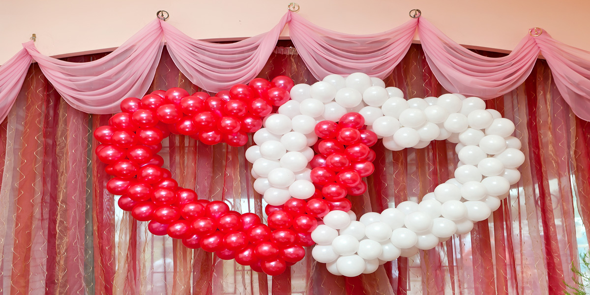 Heart Shape Balloons Decoration
